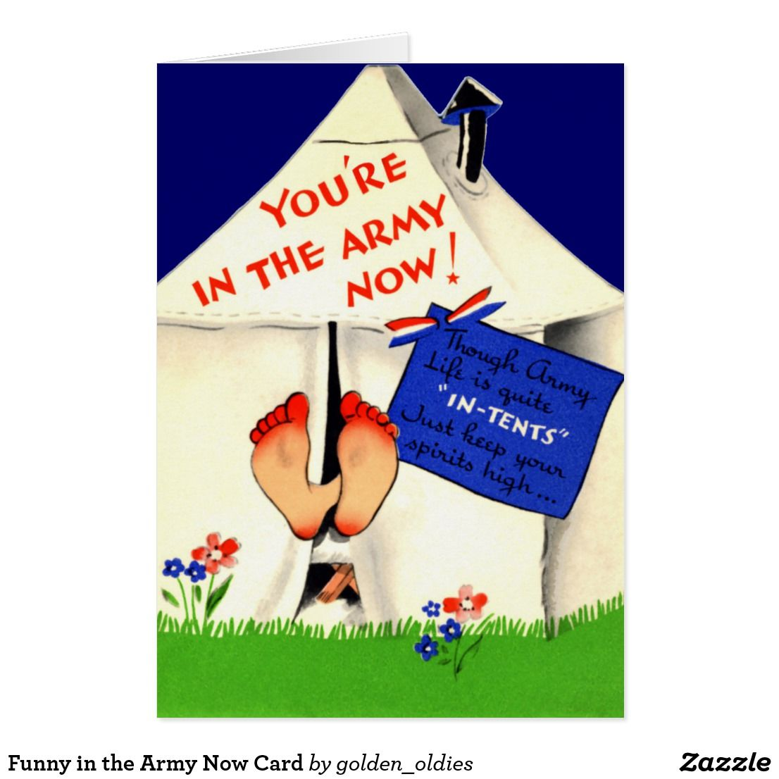 Funny In The Army Now Card Funny Greeting Cards Pinterest Army