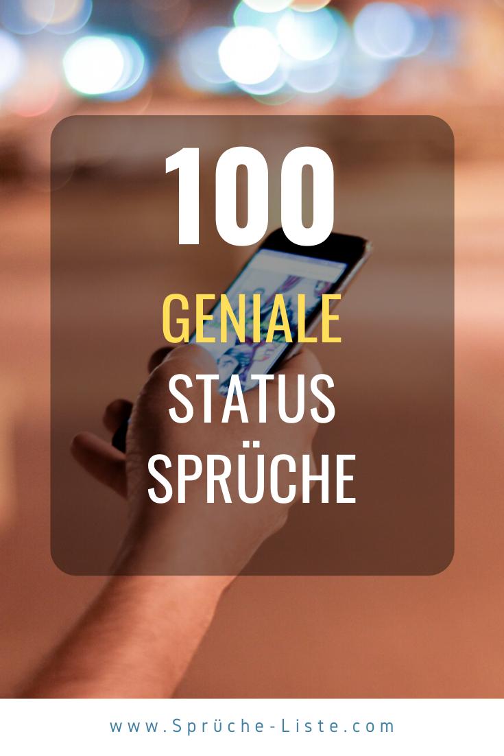 100 Geniale Status Sprüche | Schöne status sprüche, Schöne