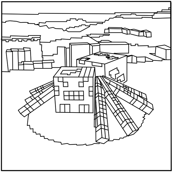 Printable Minecraft Spider coloring pages. | Elijah ... Minecraft Spider Coloring Page