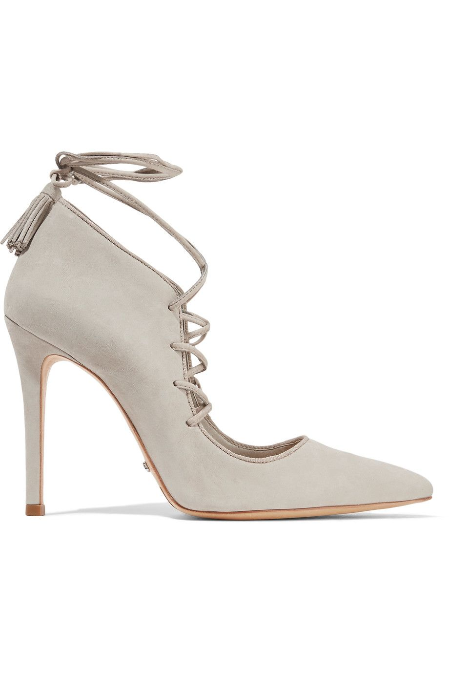 gray lace-up heels #wishlist