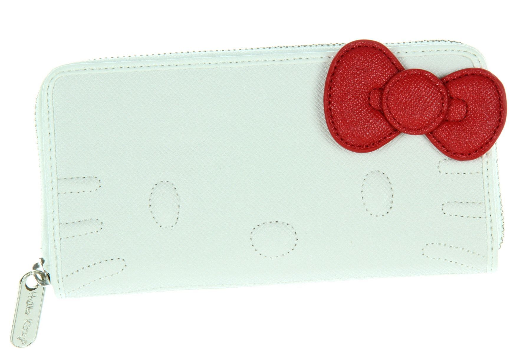 0c401deb62 Loungefly Hello Kitty White Quilt Walking Stitch Face Wallet