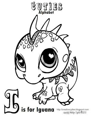 Creative Cuties: Iguana Coloring page | COLORING - CUTIES Coloring ...