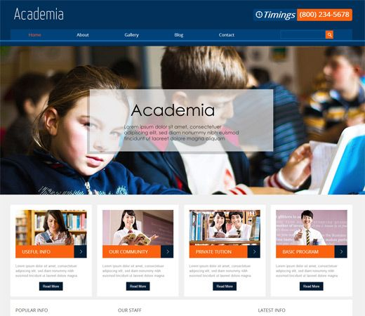 Php Website Templates Academia Education Mobile Website Template  Free Education Html