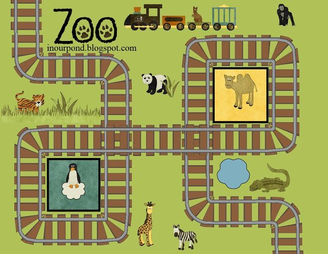 In Our Pond Zoo Train Play Mat Printable Check Busy