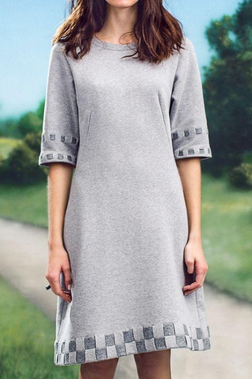 Kostenlose Nähanleitung inklusive Schnittmuster: Sweat-Kleid ...