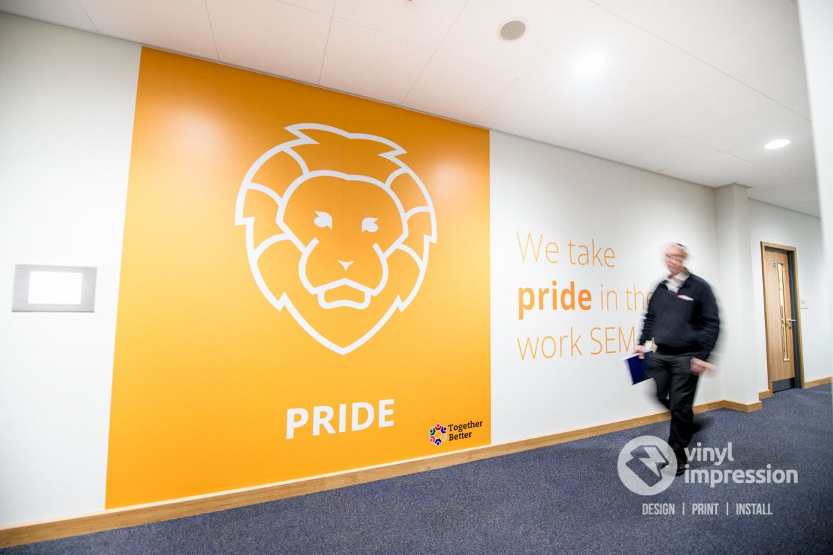 Bright Block Coloured Wall Graphics S Installed In London