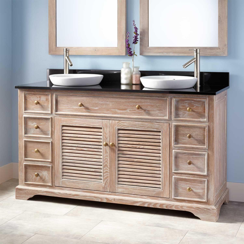 "60"" Westerfield Double Vanity for Semi-Recessed Sinks - Whitewash"