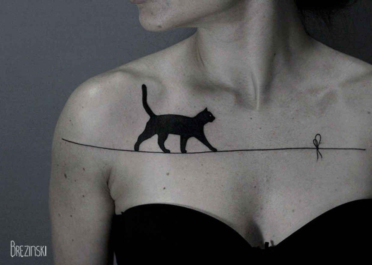 Surreal Black Ink Tattoos by Ilya Brezinski - BlazePress