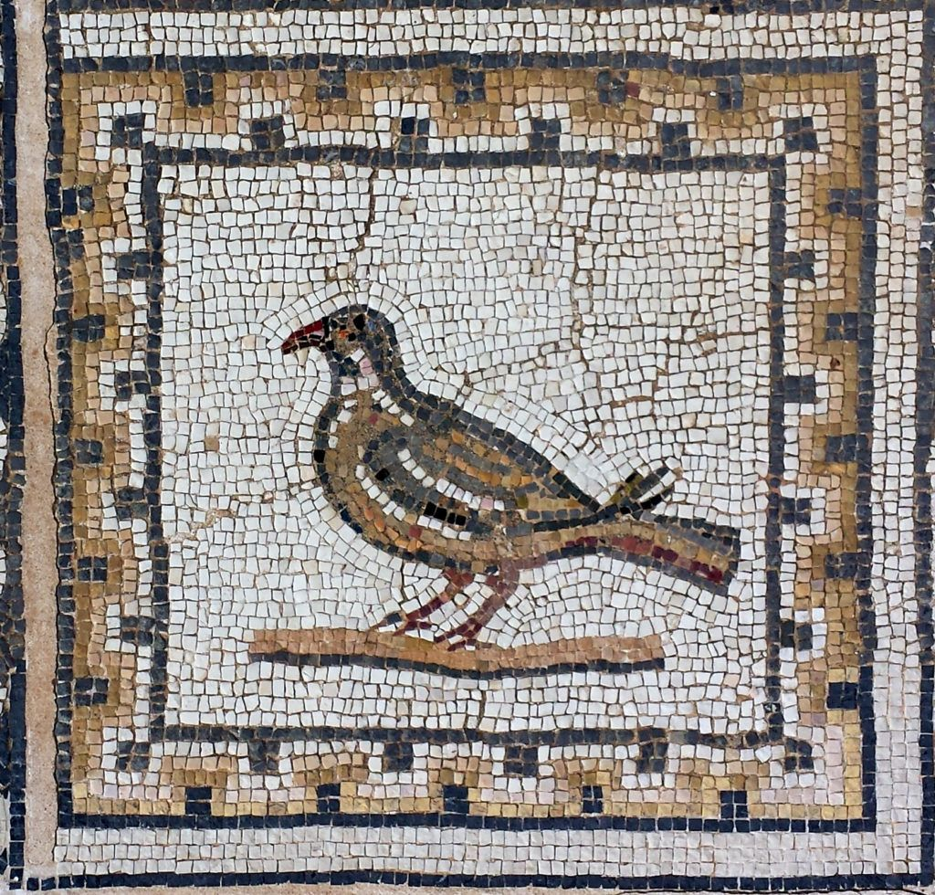 The Roman Mosaic Of The Birds In Italica Santiponce