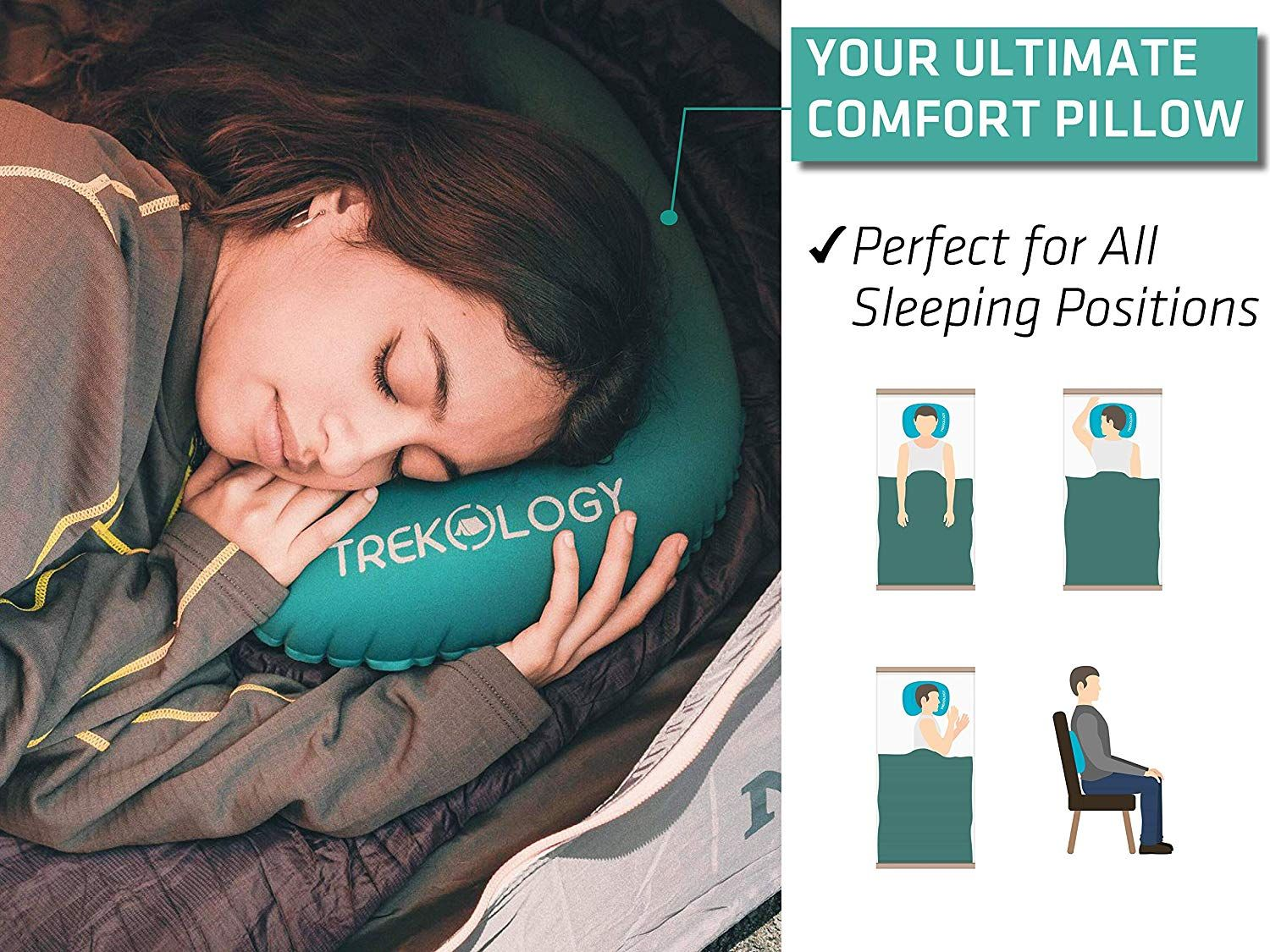 Ultralight Inflating Travel Pillows