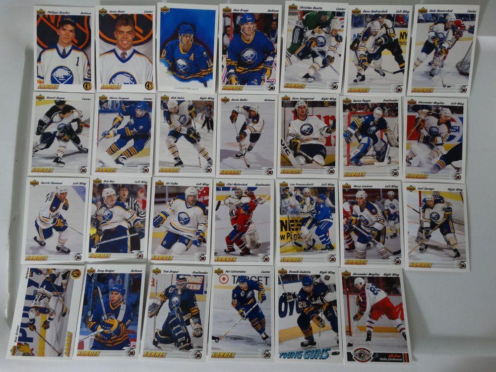 199192 upper deck ud buffalo sabres team set of 27 hockey