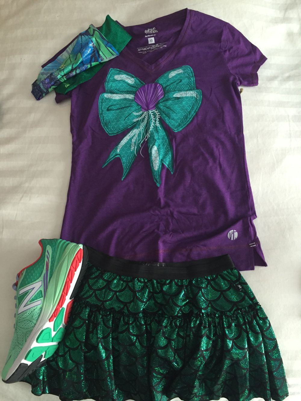 Disney running outfit.  Ariel.