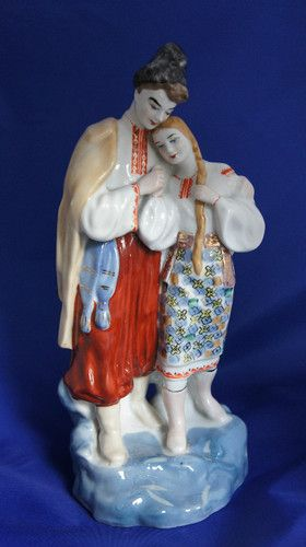 Bride and Groom Boy Girl Soviet Russian Old Vintage Porcelain Figurine RARE | eBay