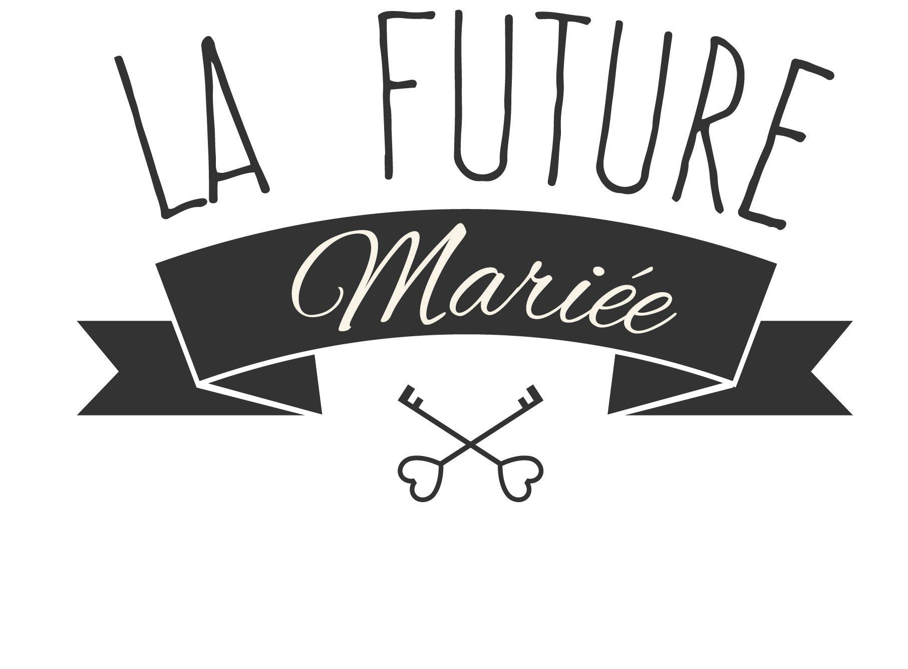 Logo evjf evjf wedding brid mariage logo illustration work design and illustration - Cadeau jeune marie ...