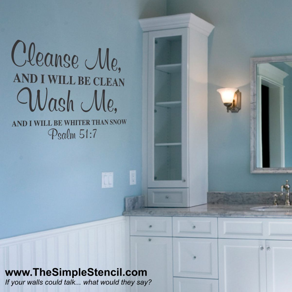 Cleanse Me Psalm 51:7 | Games | Pinterest | Bathroom, Decor and Home ...