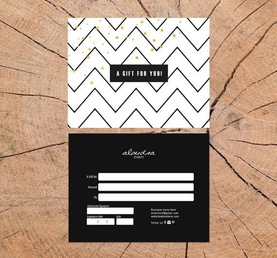 Alondra Double Sided Gift Certificate Template Instant Download