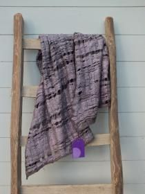 large scarf in merino and silk naturally dyed with elderberry