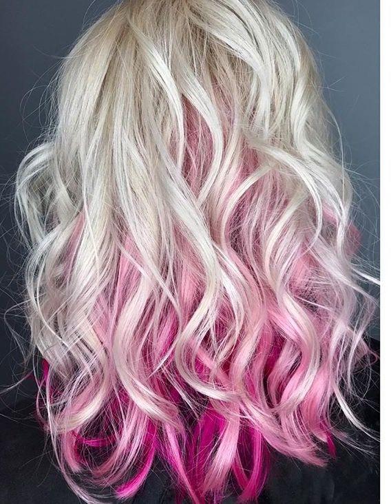 Platinum And Pink Hair Pink Blonde Hair Blonde Hair With Pink Highlights Pink Hair Highlights