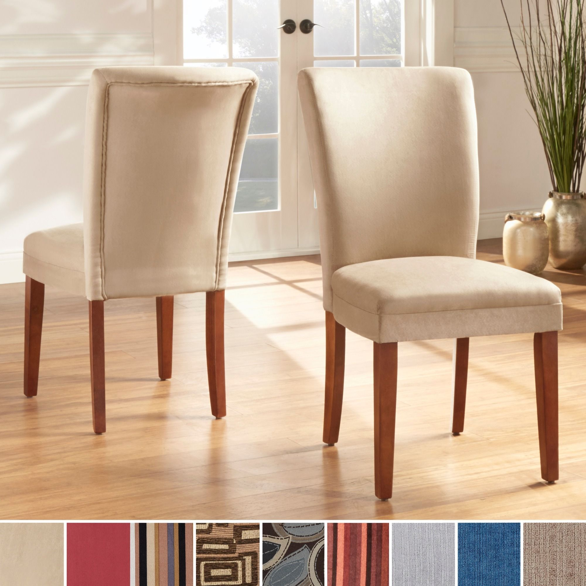 TRIBECCA HOME Parson Classic Upholstered Dining Chair (Set of 2) by INSPIRE  Q
