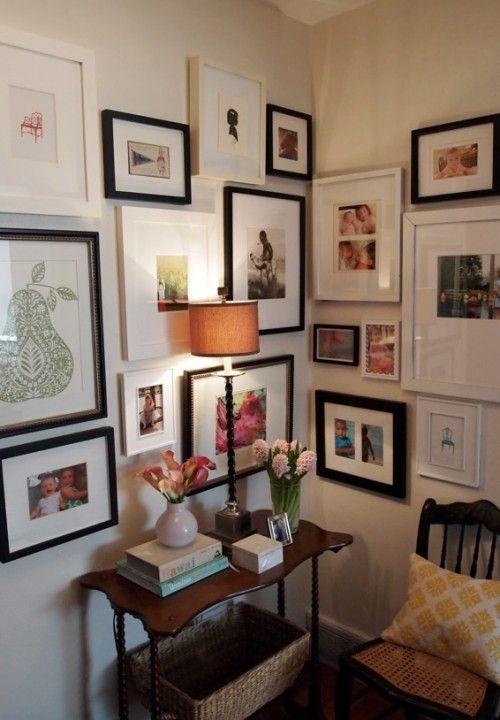 Frame gallery in a corner