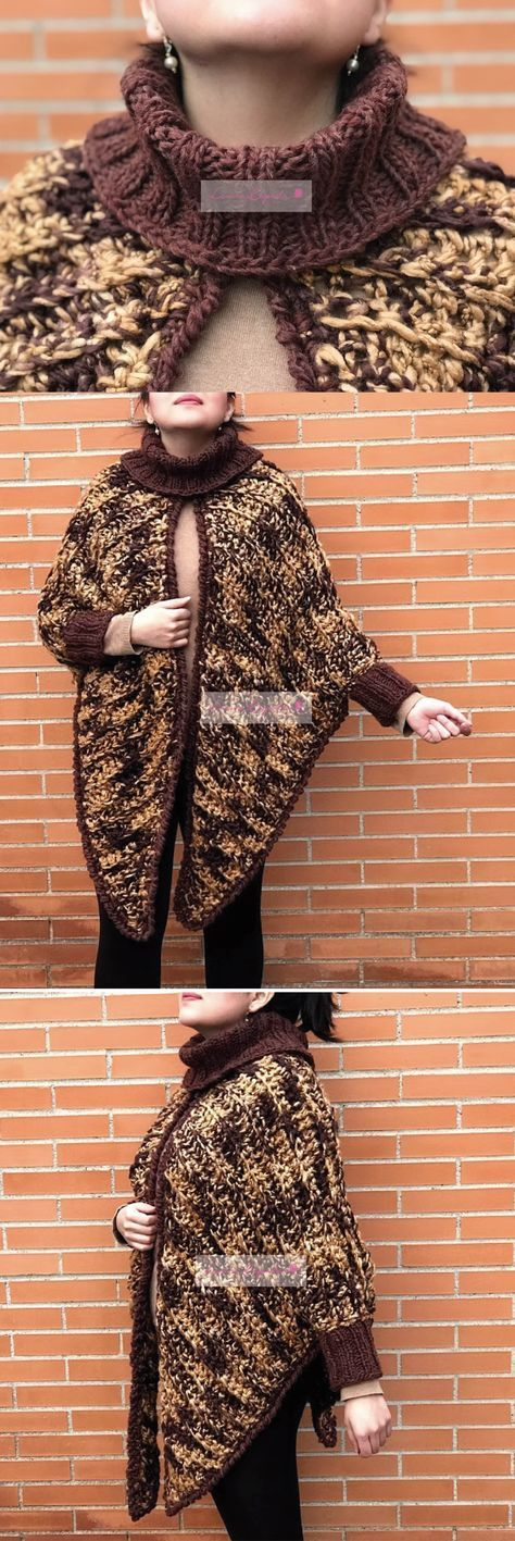 Cuffed Cape Crochet Pattern
