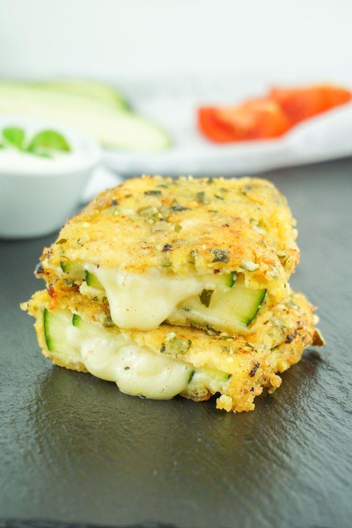 Zucchini Cordon Bleu - Vegetarisches oder klassisches Low Carb Rezept #koolhydraatarmerecepten