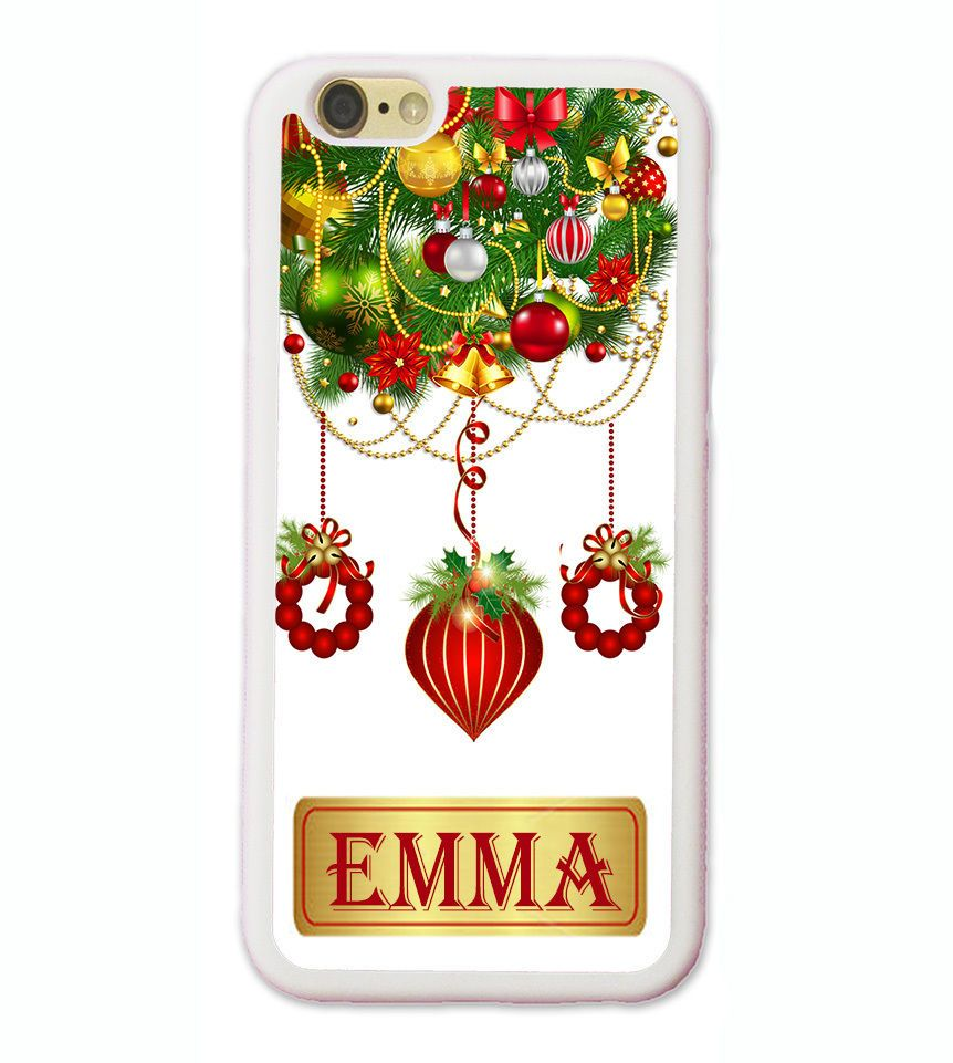 CHRISTMAS ORNAMENT PHONE Case FOR IPHONE X 8 7 6S 6 SE 5 CUSTOMIZE ...