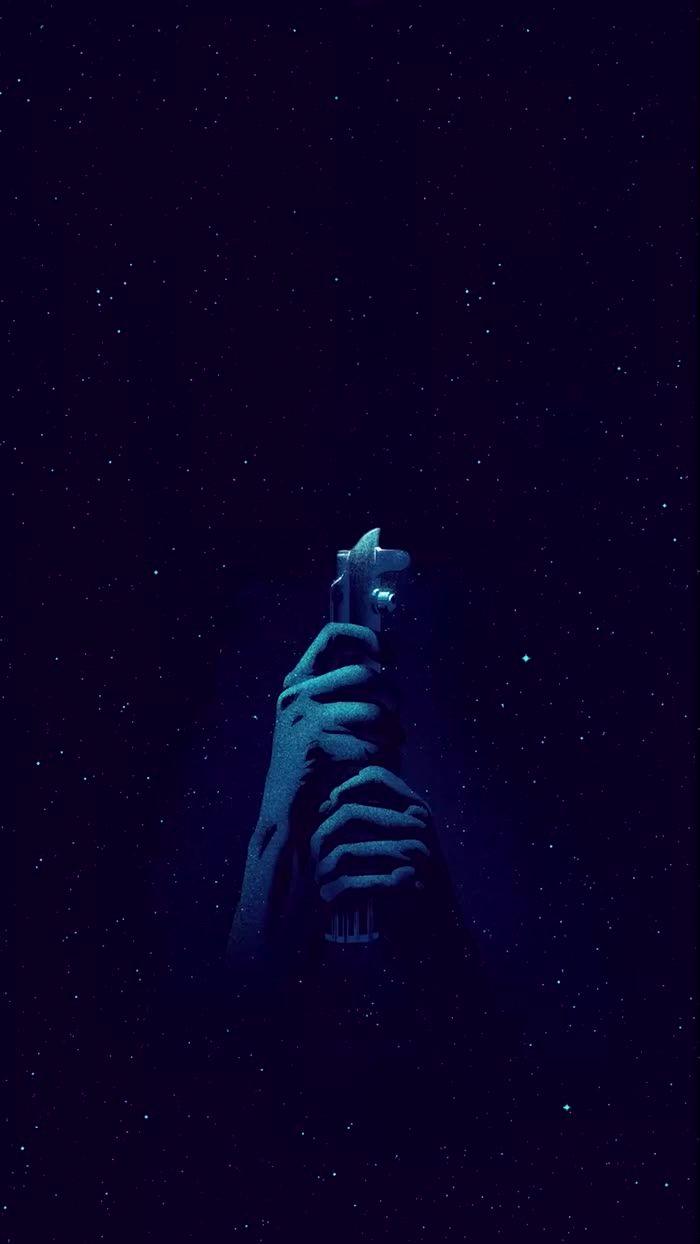 Star Wars live wallpaper iphone light saber blue สตาร์วอ