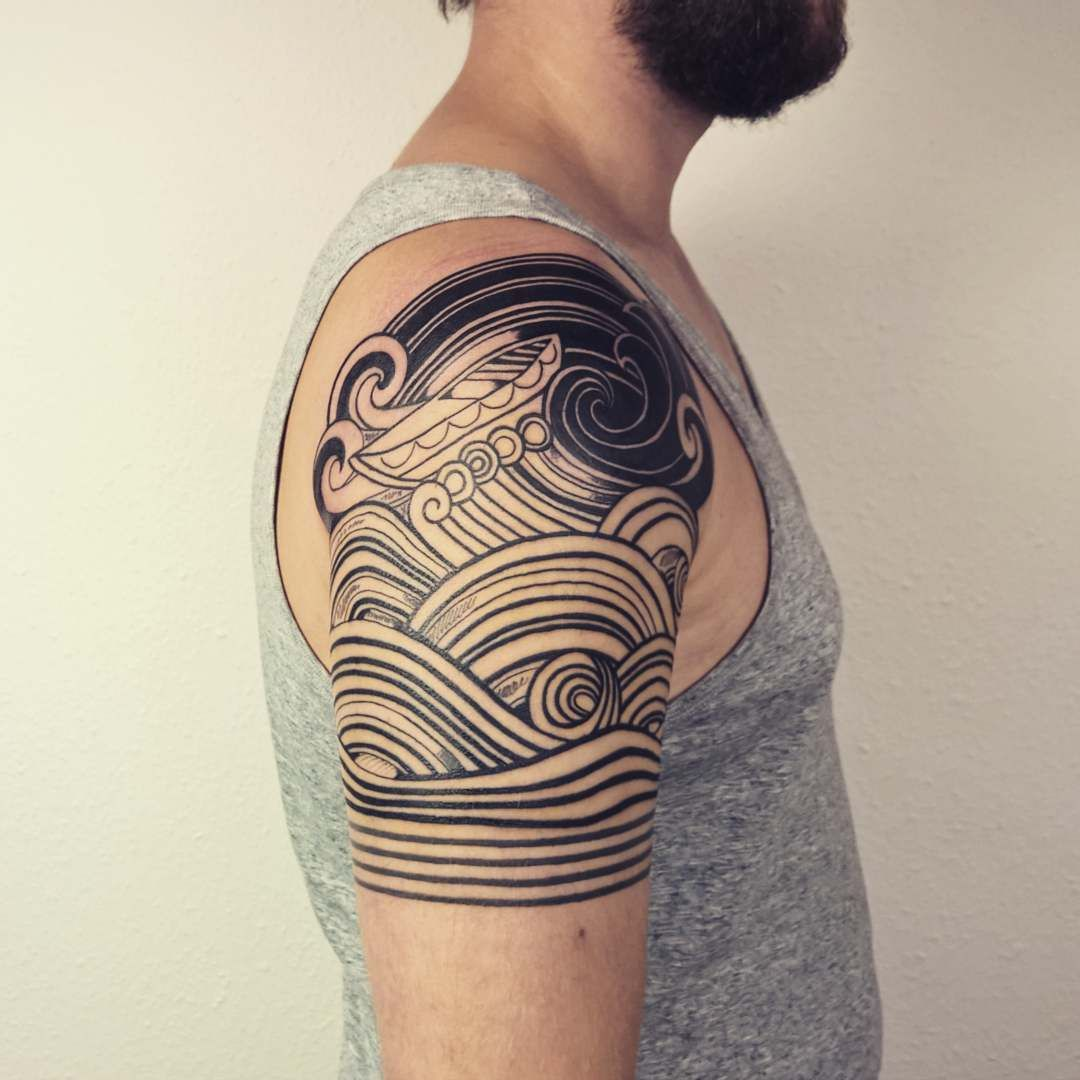90 Remarkable Wave Tattoo Designs: Pin By Phil M. Guidry On Ink