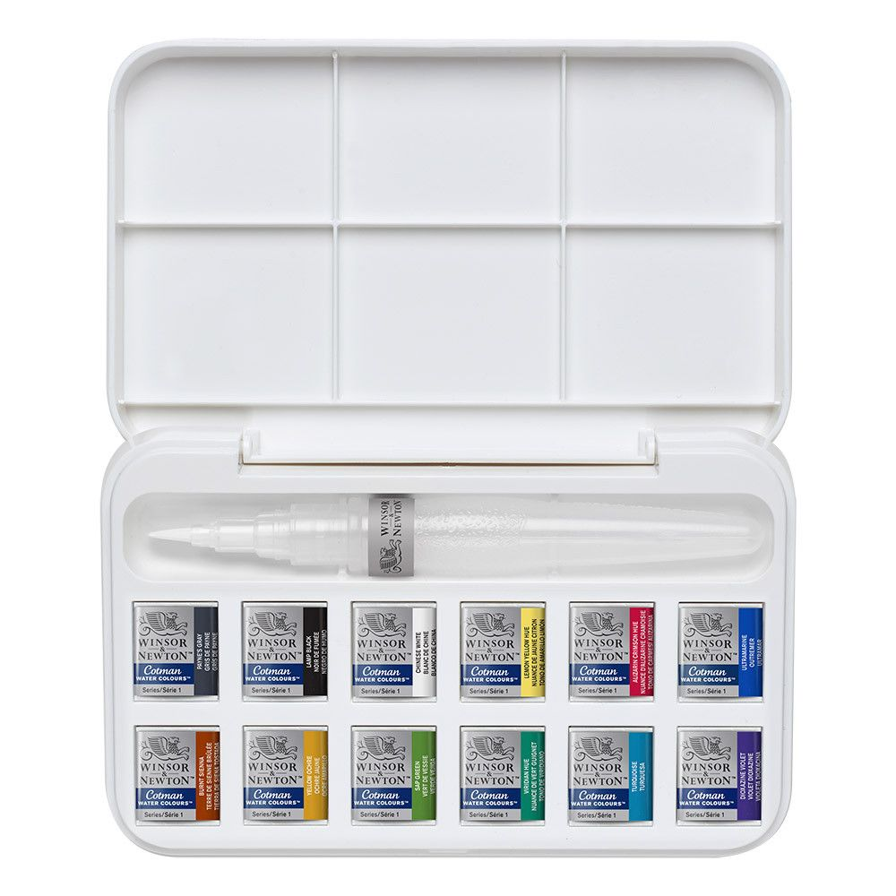 Winsor Newton Cotman Water Brush Pen And Watercolours Set