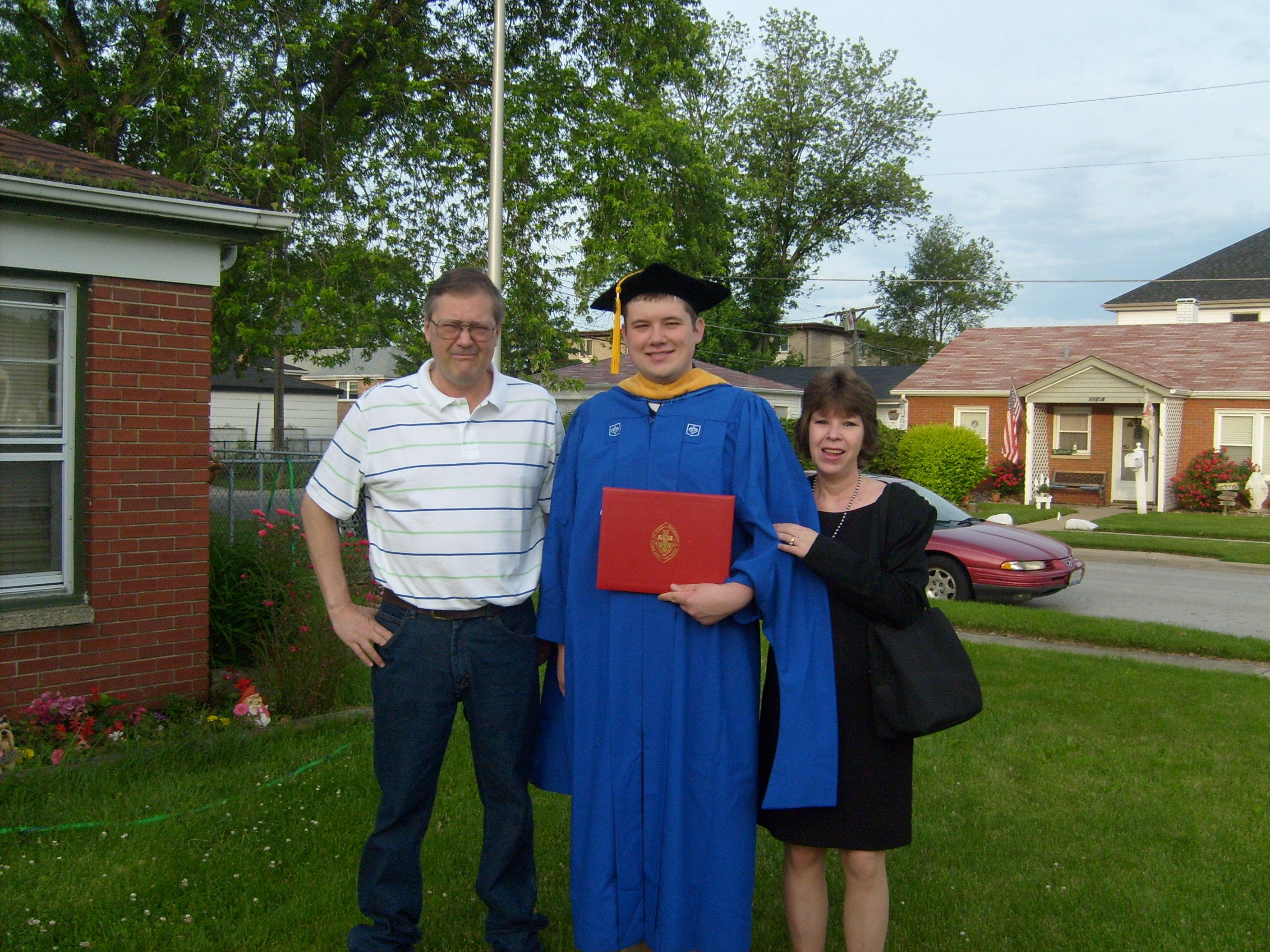 My Son Getting His Masters Degree In Biochemistry From Depaul