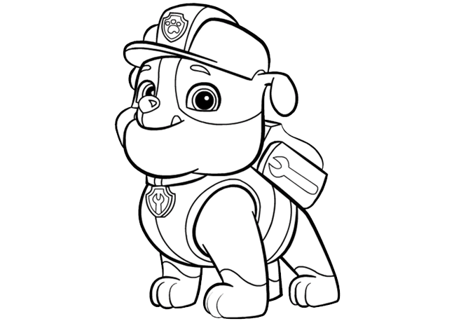 Coloring Pages Paw Patrol Rubble : Paw patrol rubble create nick jr for the kids