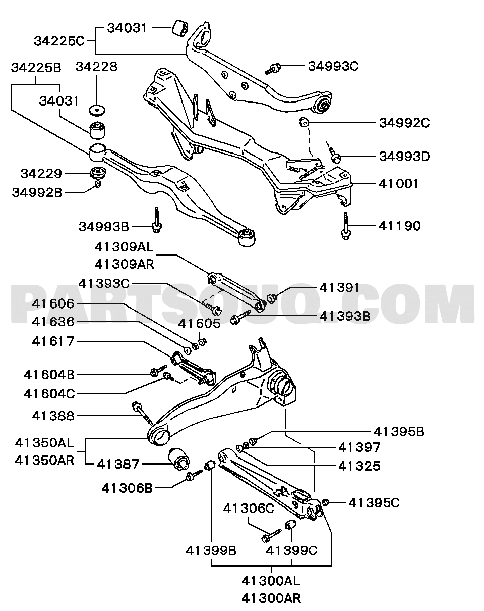 mitsubishi lancer engine parts diagram wiring library 2005 Mitsubishi Lancer Evolution Review rear suspension rear susp lancer mirage 1800 4wd sedan