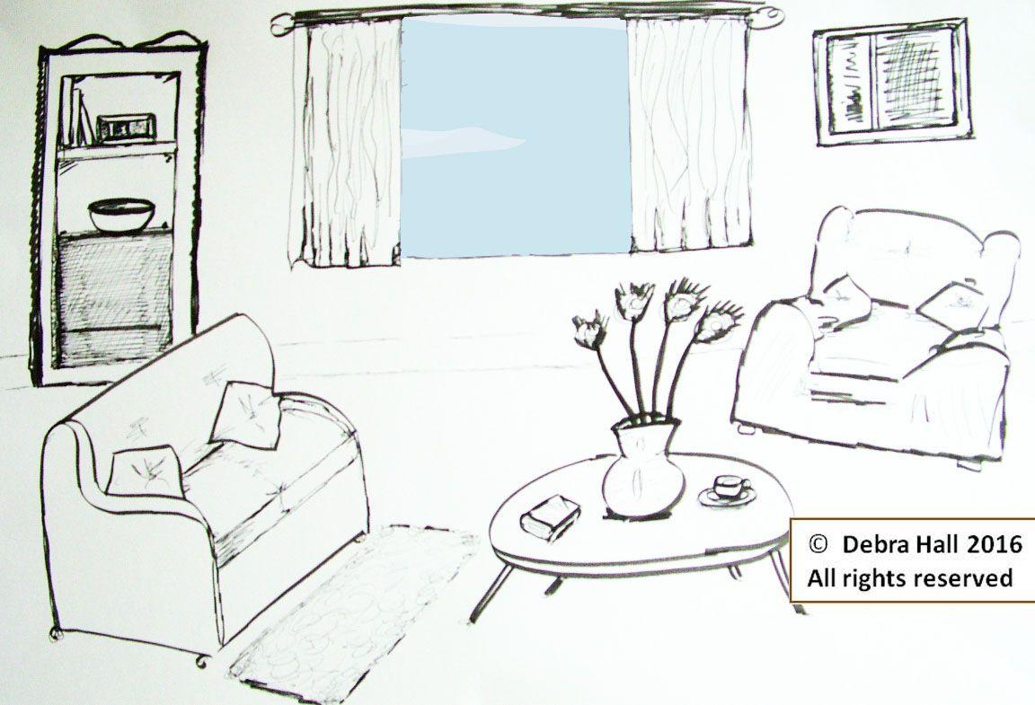 Original artwork by Illustrator Debra Hall #interior #design #illustration #artwork