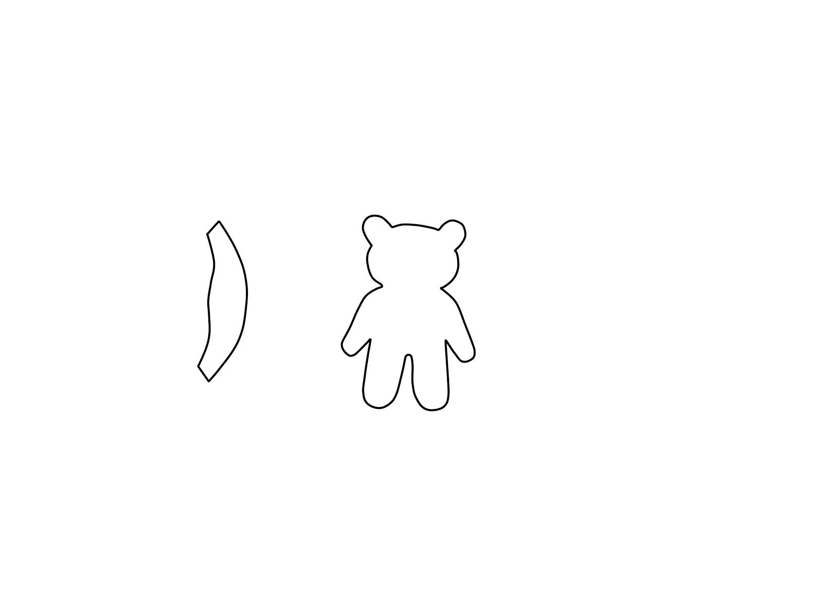 Pudsey Bear Template