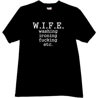 funny tshirts | WIFE Funny t-shirt in black - Funny T-shirts ...