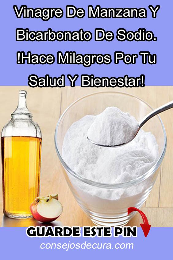 sal bicarbonato de sodio y vinagre