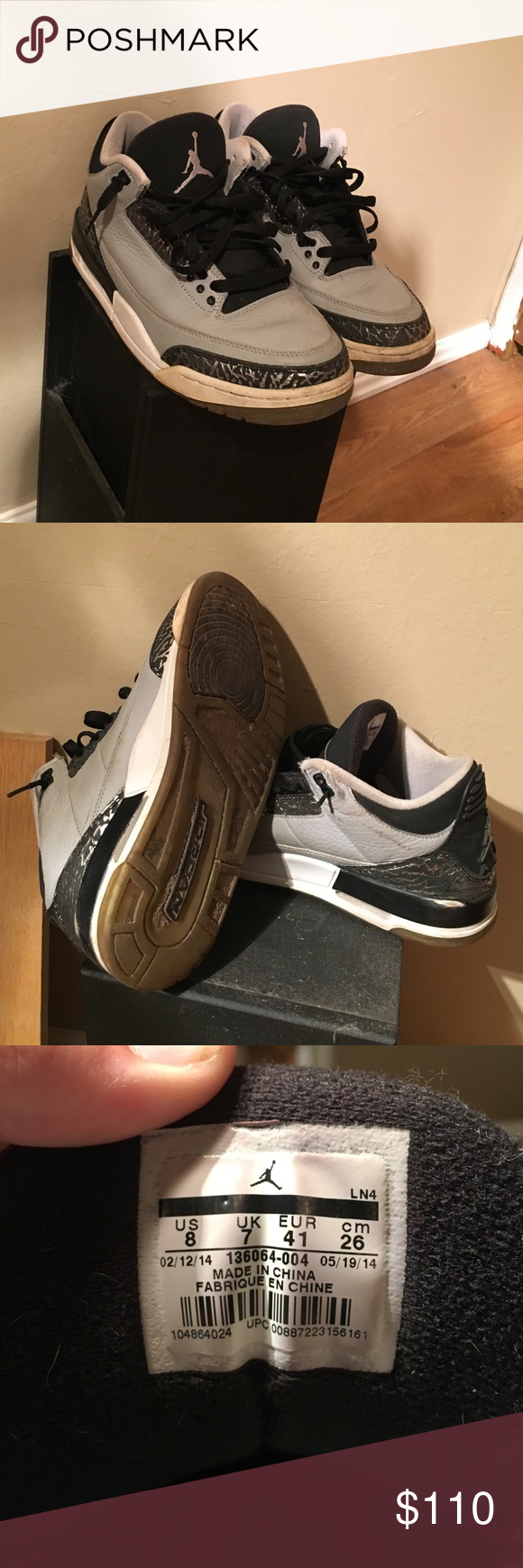 Air Jordan 3 Retro Wolf Grey in 2020 Louis vuitton shoes