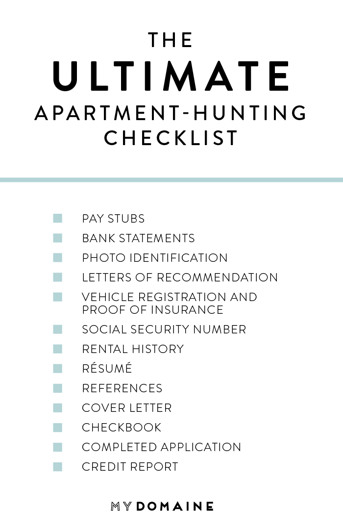 13 Things You Should Bring When Looking At A Rental Apartment Hunting Checklist Apartment Hunting Apartment Checklist
