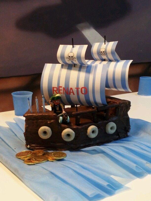 torta barco pirata | party | Pinterest | Barco pirata, Piratas y ...