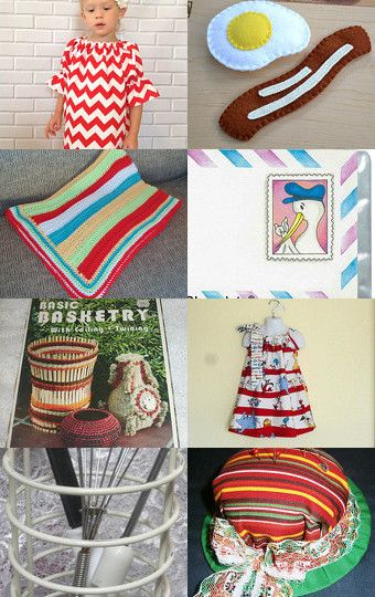 Yipes Stripes! by fabricalacarte on Etsy--Pinned with TreasuryPin.com