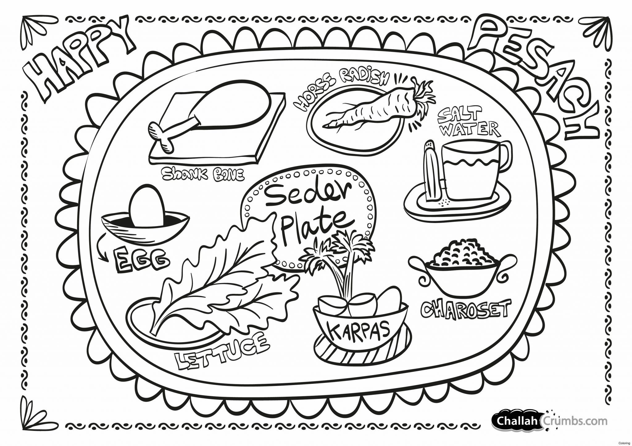 Passover Coloring Pages Printable Free 2020 Printable Calendar Blank Templates Coloring Pages Holidays In 2020 Seder Plate Passover Seder Plate Seder
