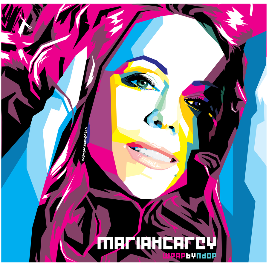Mariah Carey Wpap By Ndop On Deviantart Pop Art Portraits Pop Art Mariah Carey