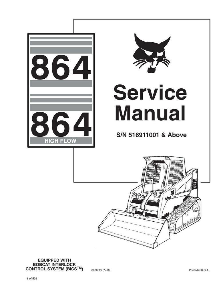 (Sponsored)(eBay) Bobcat 864 & Highflow Skid Steer Loader