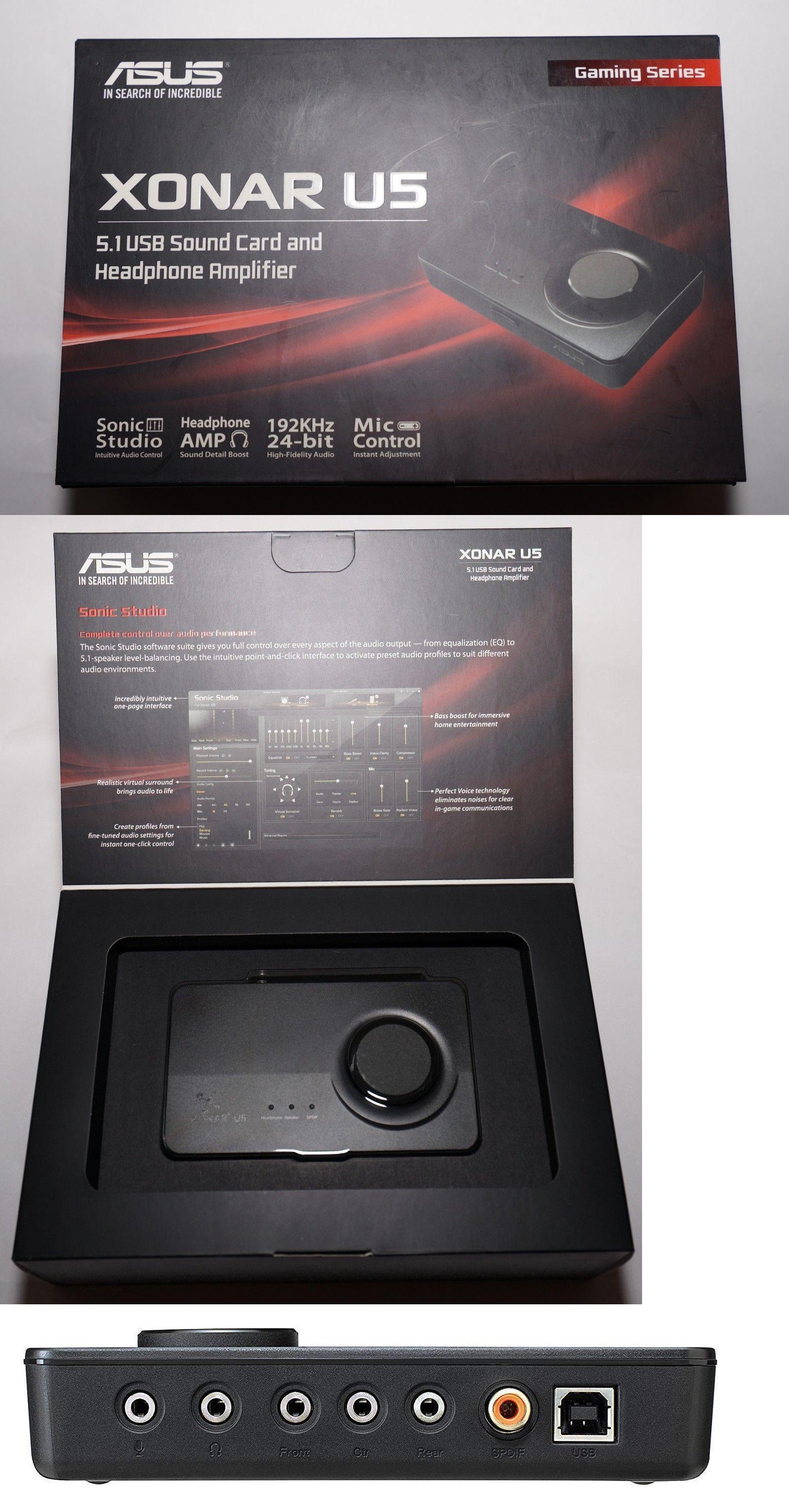 Sound Cards External 75518: Asus Sound Card Xonar U5, 5 1 Usb Sound