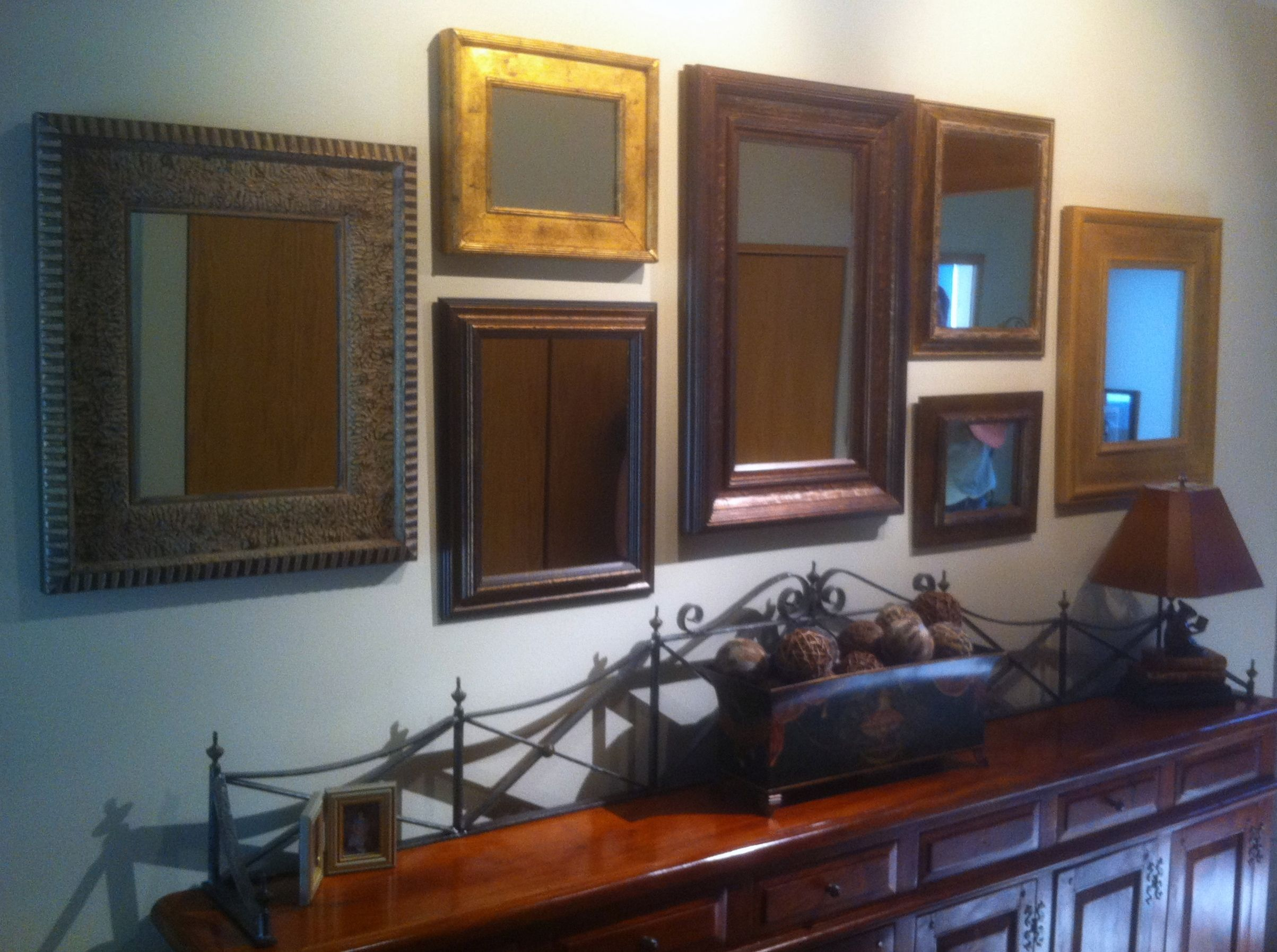 How To Hang Pictures In A Group Mirror Dining Room Hanging Pictures Homey