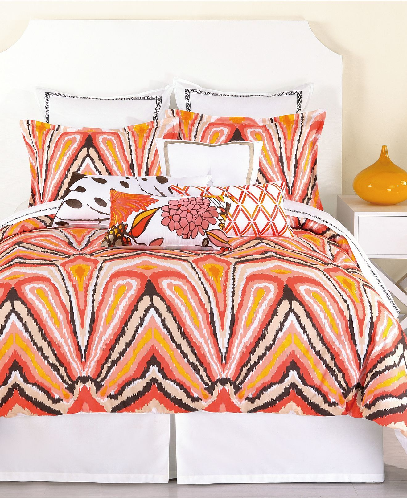Trina Turk Bedding Peacock Punch Comforter And Duvet Cover Sets