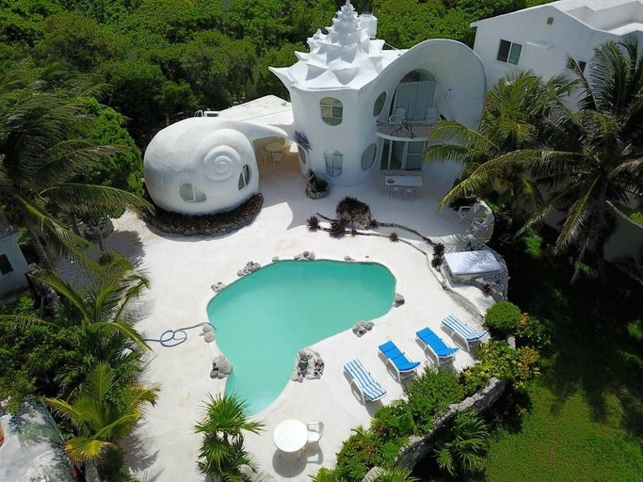 The World Famous Seashell House Casa Caracol Houses For Rent In