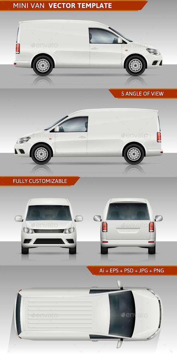 Mini Van Vector Template Mini Van Car Vector Wagon Cars