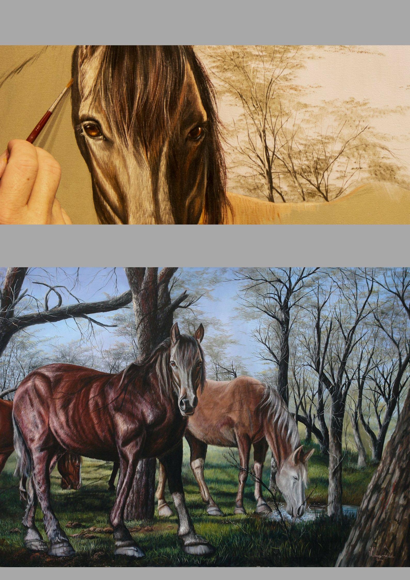 """""""Contacto Visual"""" 100x140cm Pintura al Óleo"""